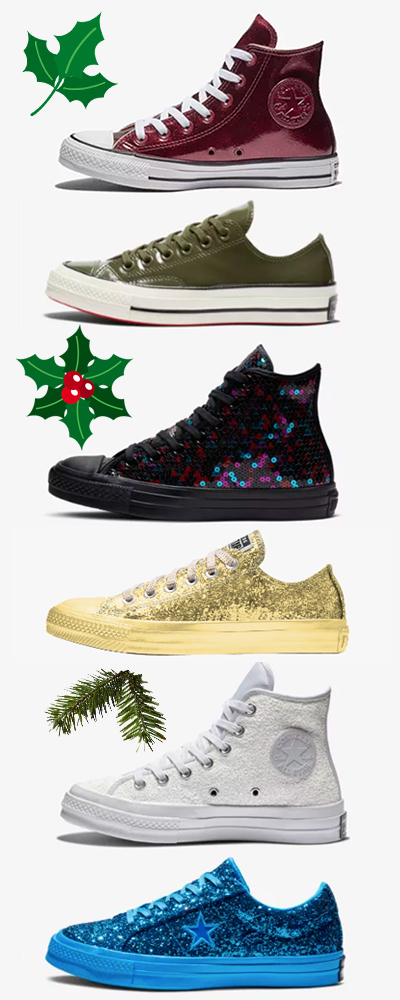 Shiny Chuck Taylors & One Stars Are Here for the Holidays