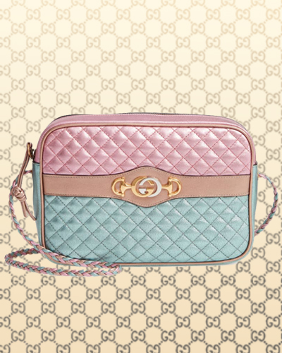 Small Quilted Metallic Leather Shoulder Bag GUCCI 1790