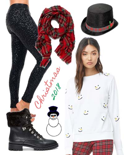 Snowman Crew Christmas Party Outfit 2018