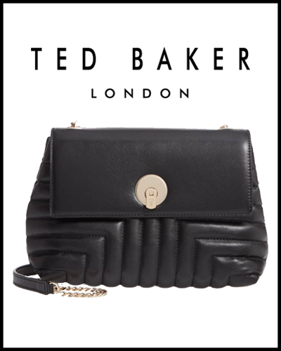 Ssusiee Circle Lock Quilted Leather Crossbody Bag TED BAKER LONDON 269