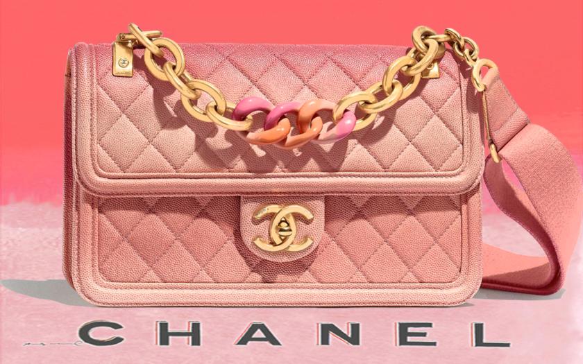 pink chanel flap bag