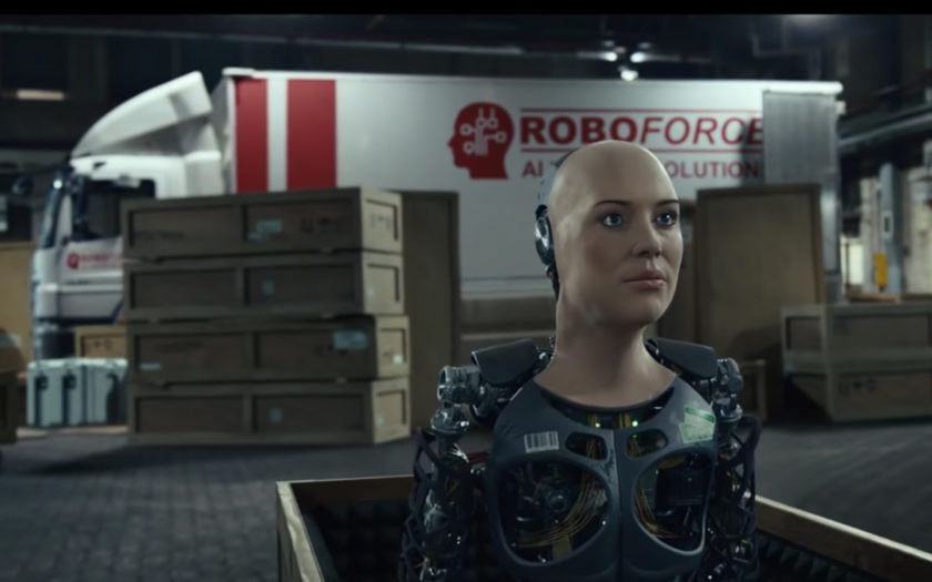 screenshot of robot from free yourself music video