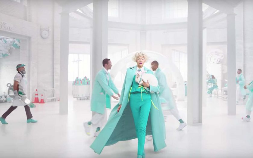 Tiffany & Co Believe in Dreams ad with the white rabbit
