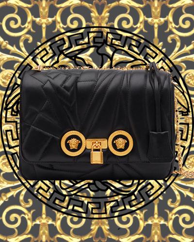 Versace Icon Medium Logo-Quilted Napa Shoulder Bag 2295