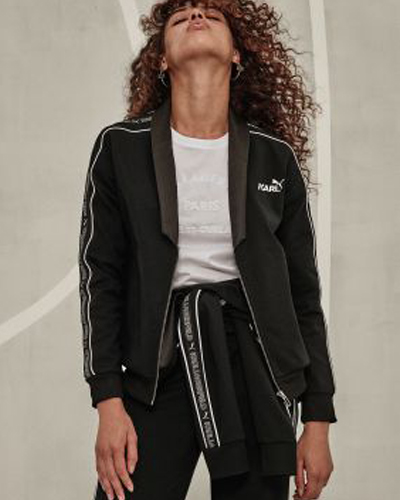 puma x karl lagenfeld track pants and jacket