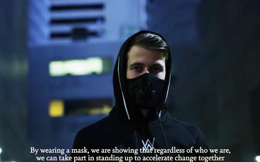 alan walker wearing the urban air mask 2.0