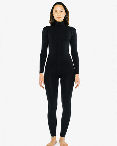 American Apparel Cotton Spandex Turtleneck Catsuit