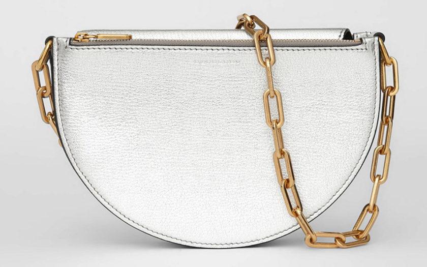 Burberry D-Bag in metallic silver