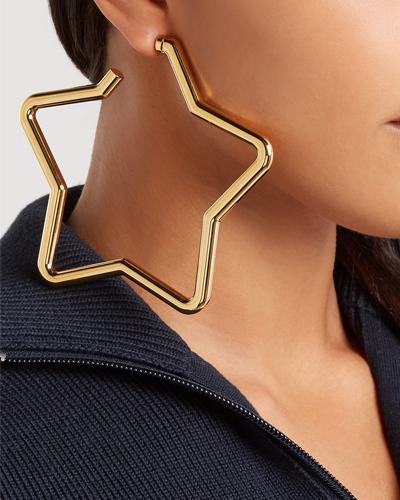 BALENCIAGA Oversized gold star single earring