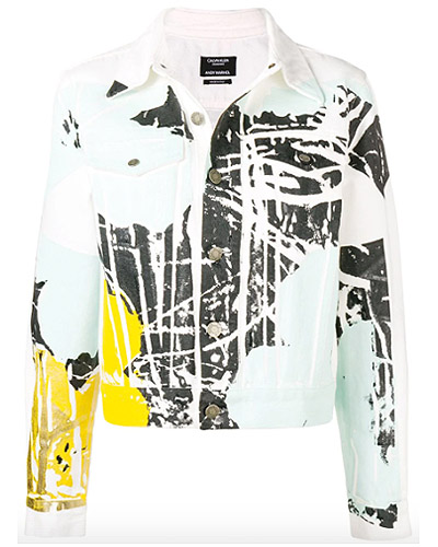CALVIN KLEIN 205W39NYC x Andy Warhol Foundation floral colour-block denim jacket