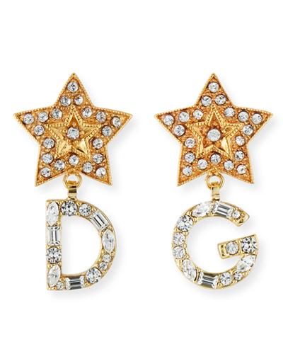 DOLCE & GABBANA DG STARS CRYSTAL EARRINGS