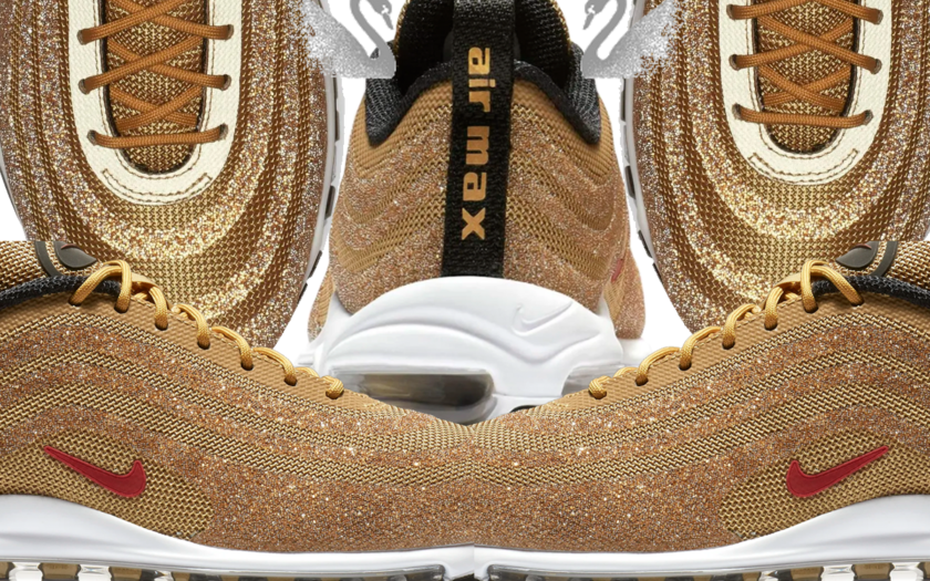 rendimiento superior código promocional 50-70% de descuento Gold Swarovski x Nike Air Max 97 Already Sold Out - Slutty Raver ...