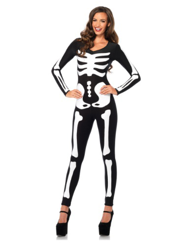 Halloween Costumes Glow in the Dark Skeleton Catsuit
