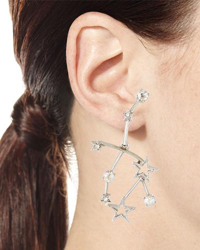 Oscar de la Renta Crystal Constellation Earrings