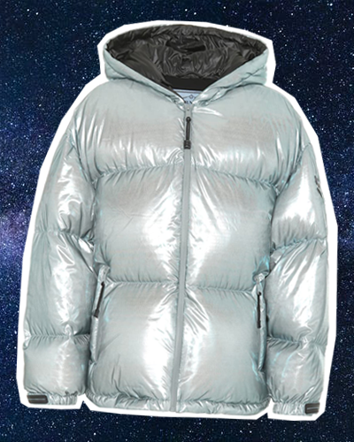 PRADA Puffer jacket in space
