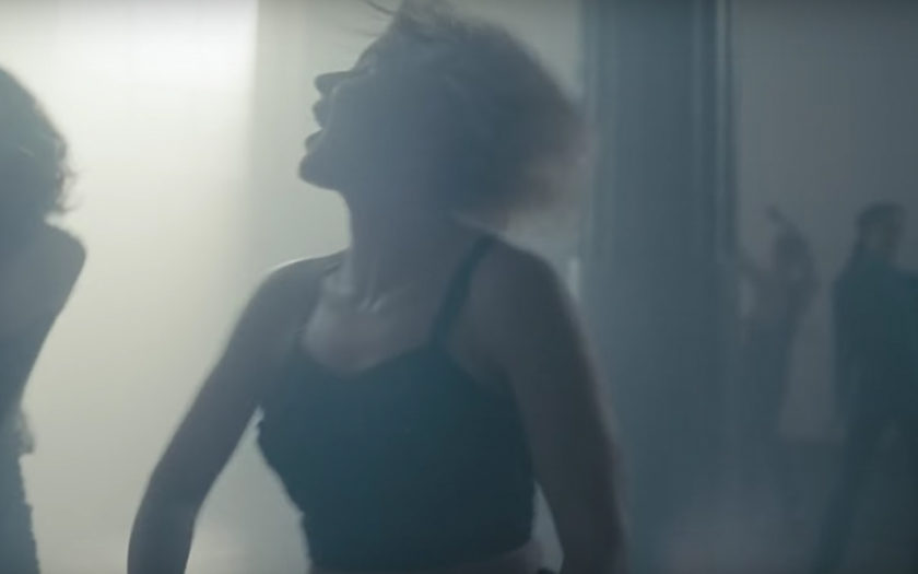 screen shot of robyn dancing in honey music video