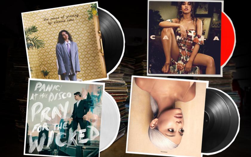 four records, ariana grande, camila cabello, alessia cara, panic at the disco