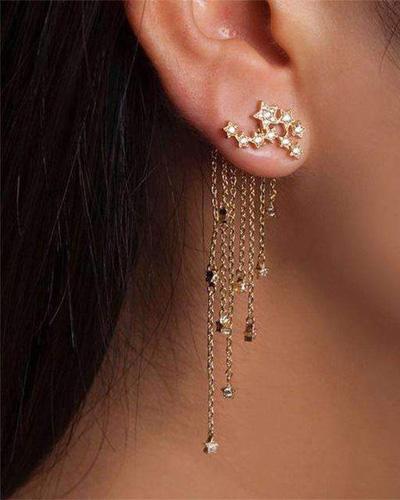 Starry Luck Shooting Star Dangle Earrings