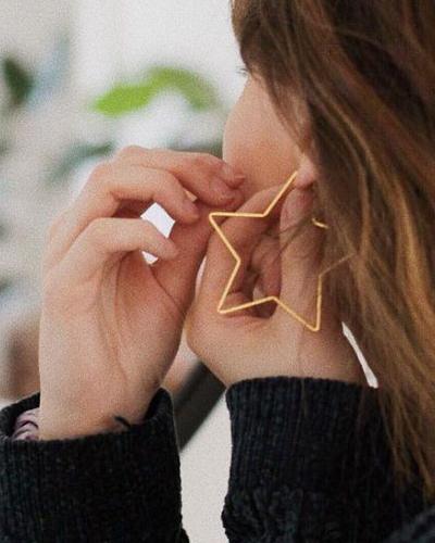 UO Geometric Hoop Earring