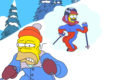 Ned Flanders skiing feels like I'm wearing nothing at all the simpsons
