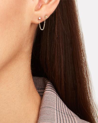 ZOE CHICCO Itty Bitty Star Double Piercing Single Earring